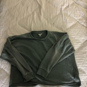 lightly cropped crew neck